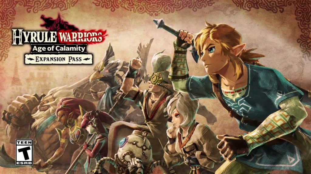 Artwork officiel d'Hyrule Warriors l'ère du fléau: pass extension.