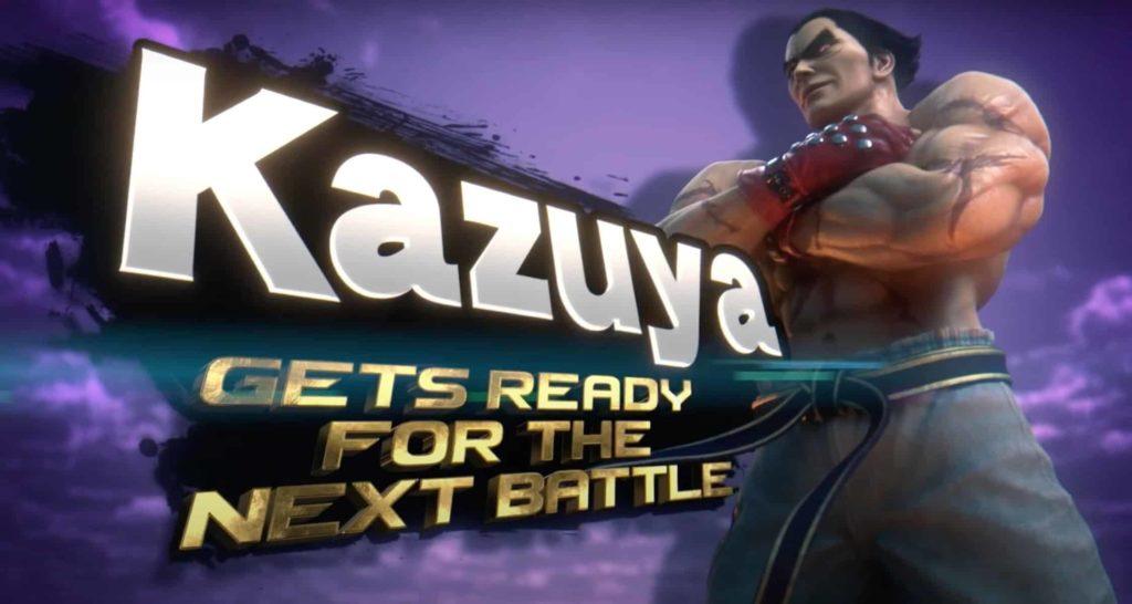 Affiche d'annonce de Kazuya dans Super Smash bros. Ultimate.