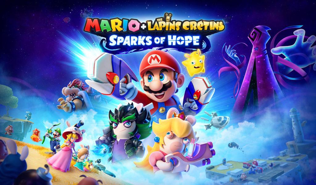 Artwork officiel de Mario + The Lapins Crétins: Sparks of Hope.