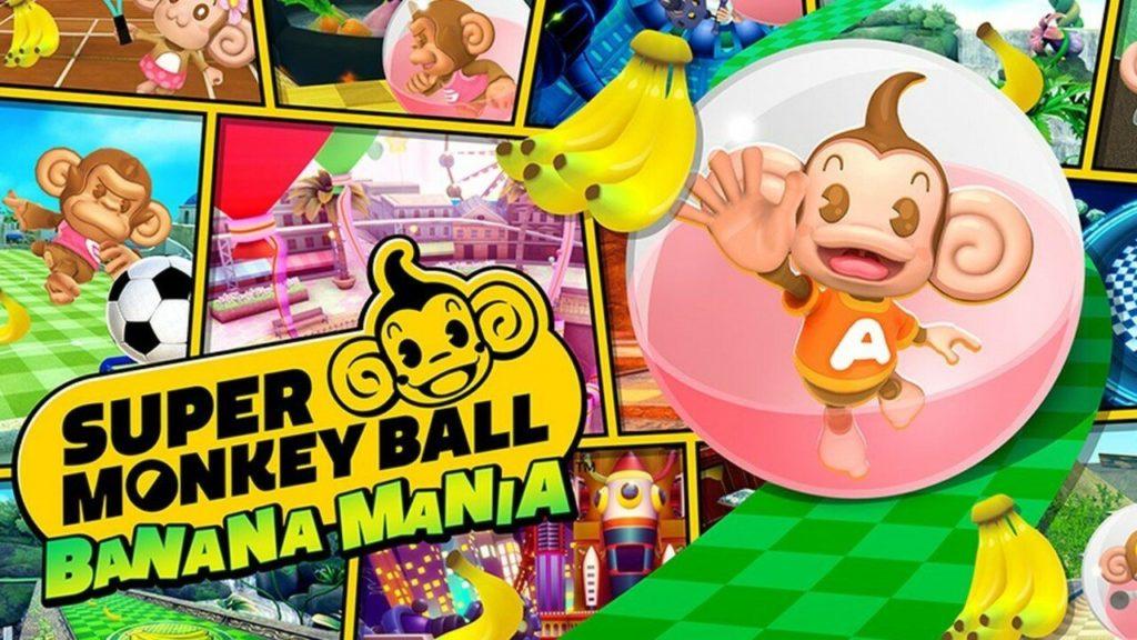Artwork officiel de Super Monkey Ball Banana Mania.