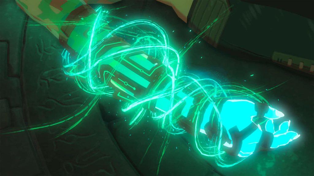 Capture d'écran du teaser de the Legend of Zelda Breath of the Wild 2: bras de Link.