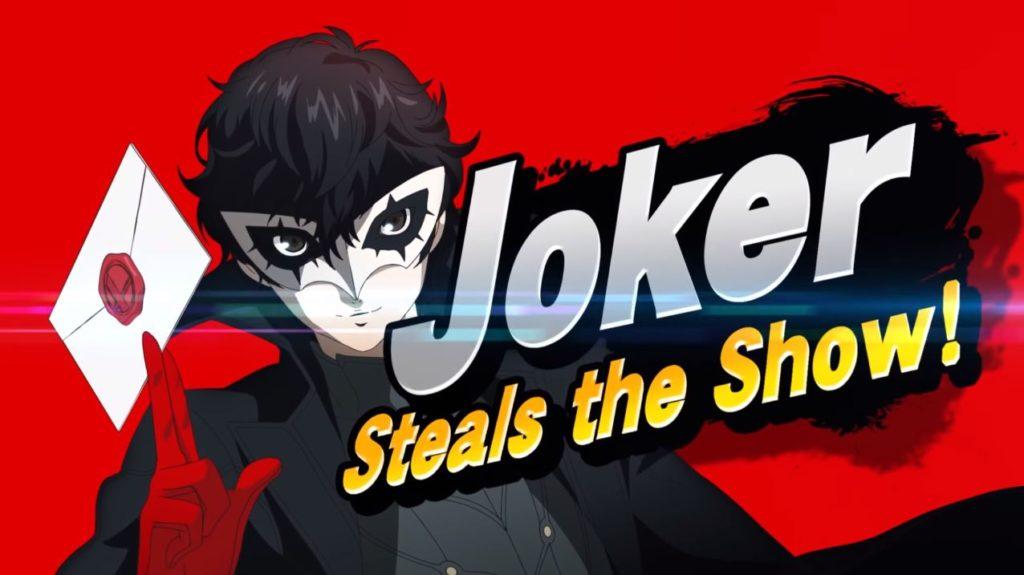 Artwork officiel de l'arrivée de Joker dans Super Smash bros. Ultimate.