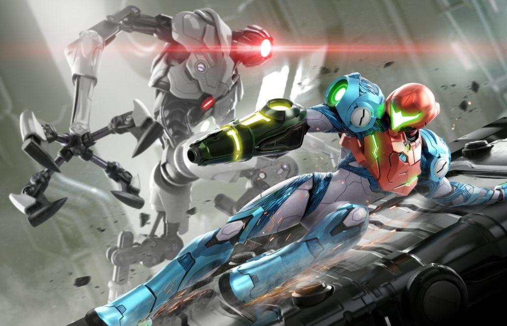 Artwork officiel de Metroid Dread.