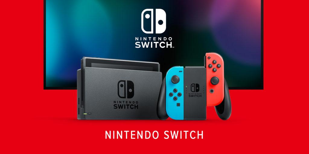 Image officielle de la Nintendo Switch en mode salon.