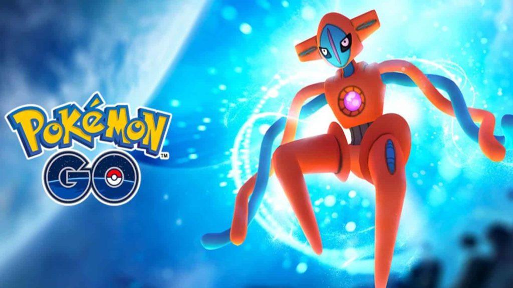 Pokémon Go affiche promotionnelle pour les Raids Deoxys.