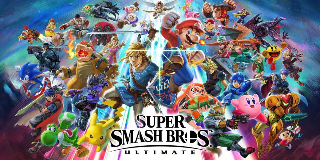 Artwork officiel de Super Smash bros. Ultimate.