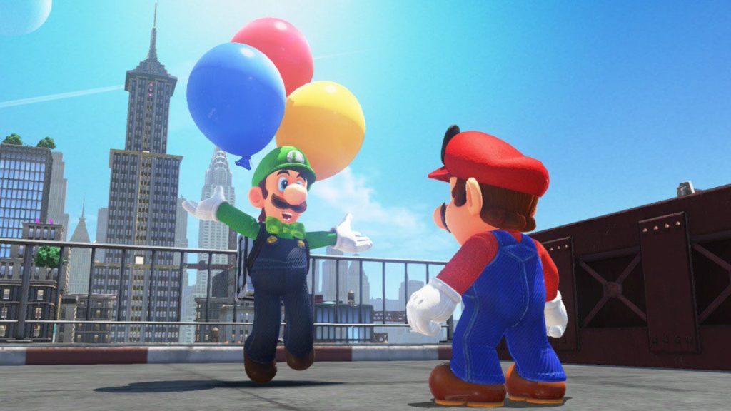 Luigi Chasse aux ballons Super Mario Odyssey