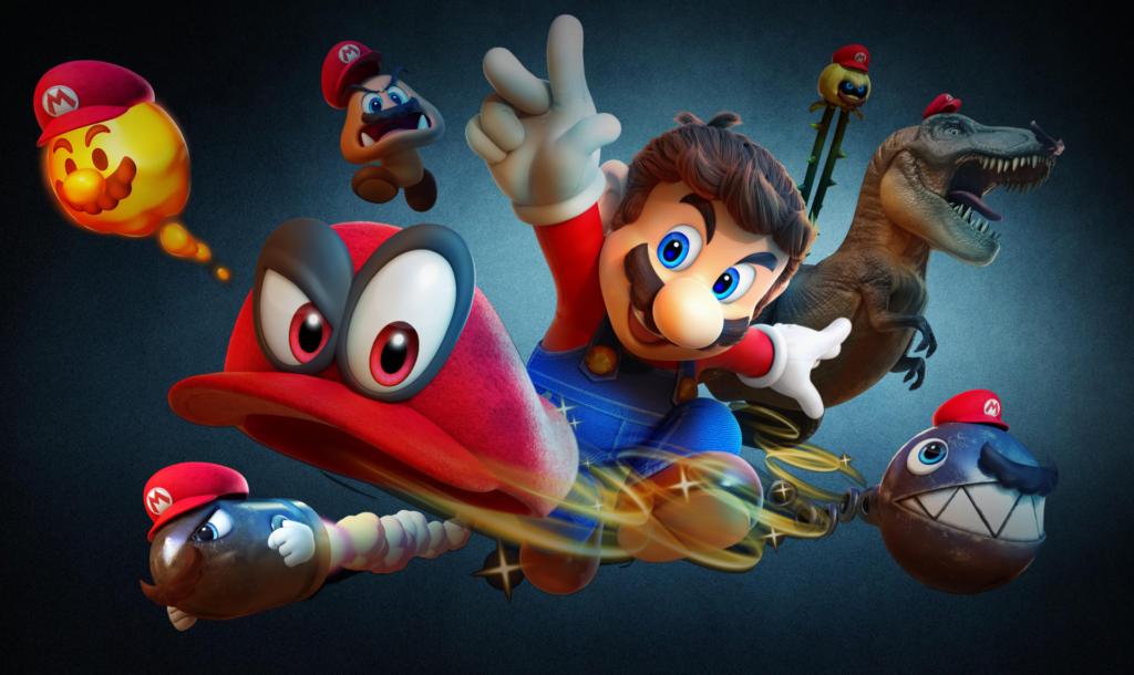 Mario et ses chapimorphoses dans Super Mario Odyssey