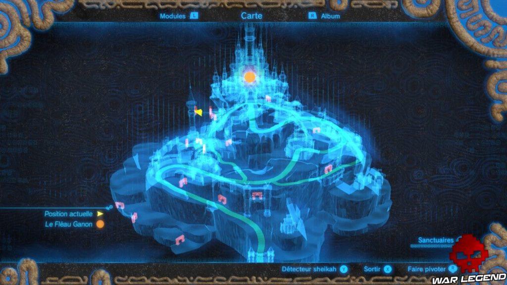 Carte en relief du château d'Hyrule.