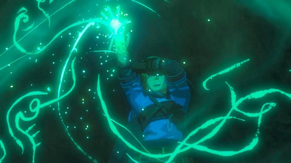 Capture d'écran de la cinématique où Link interagit avec le sceau.