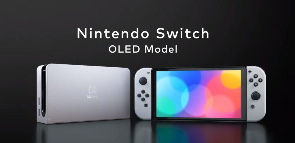 Photo officielle de la Nintendo Switch Modèle OLED -Mode portable