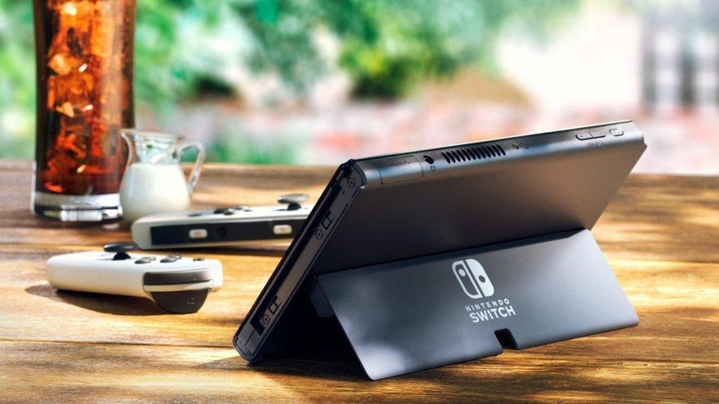 Photo officielle de la Nintendo Switch Modèle OLED - Nouveau support