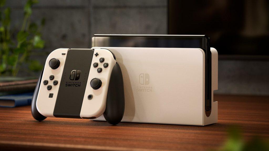 Photo officielle de la Nintendo Switch Modèle OLED - Mode salon